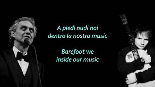 Ed Sheeran Perfect Symphony ft Andrea Bocelli lyrics translate