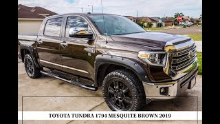 TOYOTA TUNDRA 1794 2019 MESQUITE BROWN REVIEW