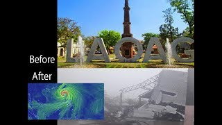 Laoag , before and after Typhoon Mangkhut, Super typhoon Omgong, Philippines