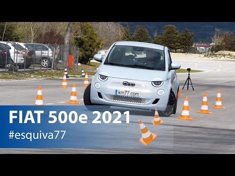 FIAT 500e 2021- Maniobra de esquiva y eslalon | km77.com