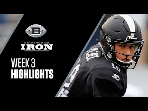Max Redfield Gets INT For Birmingham Iron