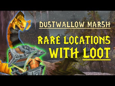 WoW Classic - Rare Mob Locations + UNIQUE LOOT - Dustwallow Marsh