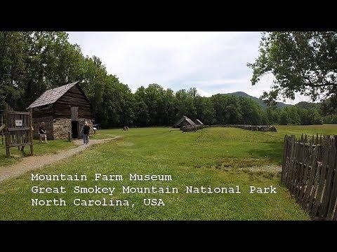 Mountain Farm Museum   Great Smokey Mountains National Park   North Carolina   USA
