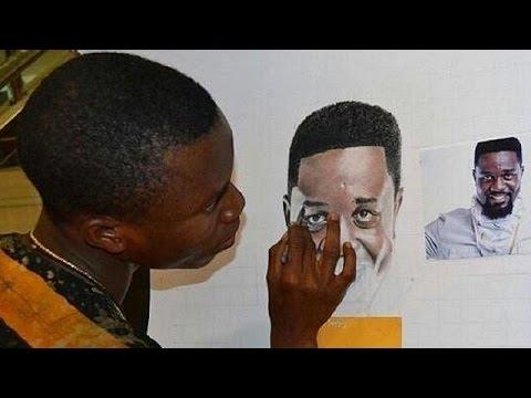 Un dessinateur hors du commun au Ghana