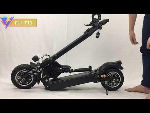 Складной электрический скутер FLJ / Электросамокат с Алиэкспресс
