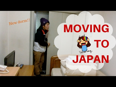 Tokyo Empty Dorm Tour | Temple University Japan Move in Day Vlog