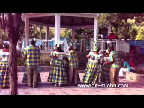 A quadrille dance during St. John Cultural Day