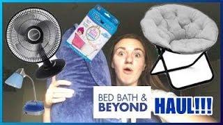 COLLEGE DORM HAUL!! | Bed Bath & Beyond