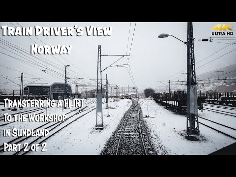 TRAIN DRIVER'S VIEW: FLIRTing To The Workshop In Sundland Part 2 Of 2