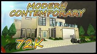 Bloxburg - Modern Contemporary House Build [ 72K-speedbuild ] Roblox