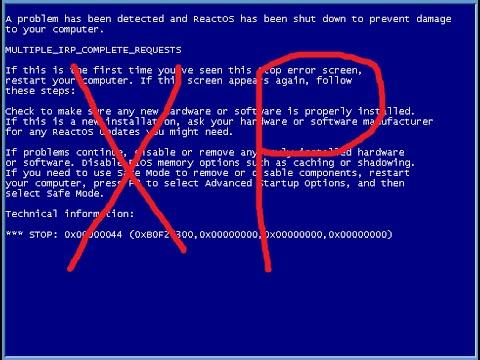 Синий экран смерти Windows XP, что делать? Командная строка в помощь!