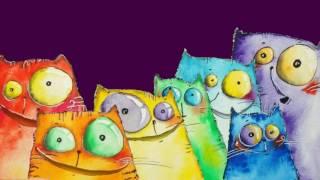 Футаж (хромакей)  «Happy Birthday to you» - Коты поздравляют с днём рождения