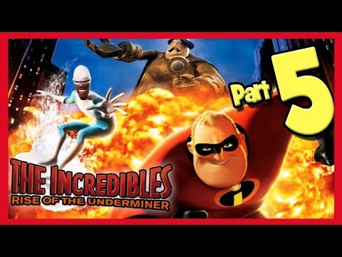 The Incredibles: Rise of the Underminer Walkthrough Part 5 Dugs Under Water Plant
