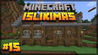 """Minecraft 1.12 išlikimas Lietuviškai #15 """"Namo statybos!"""""""