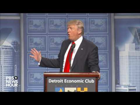 Watch Donald Trump's full speech on economic policy