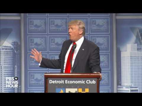 Watch Donald Trump's full speech on economic policy