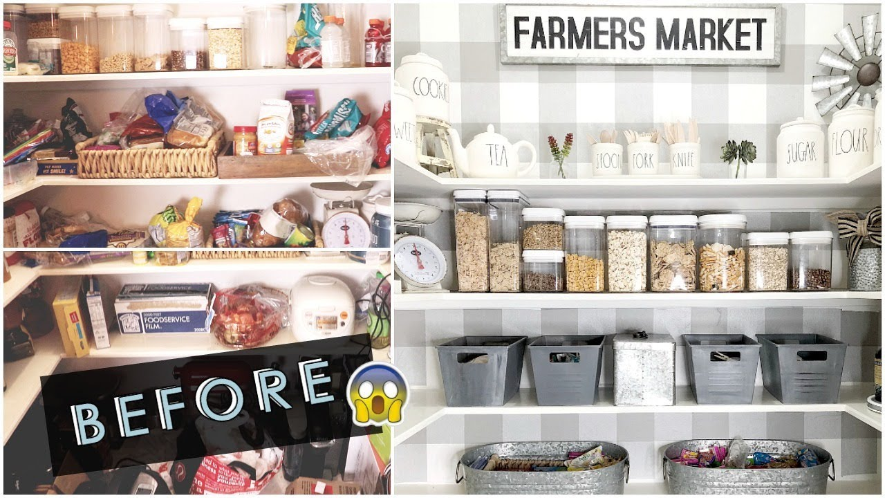 Pantry Organization Ideas Pantry Makeover Youtube