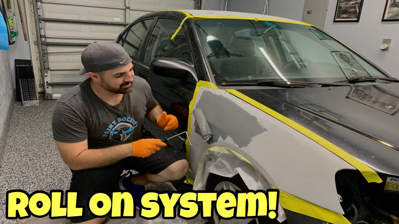 DIY Car Paint Roll-On System gets Great Results in Home Garage!
