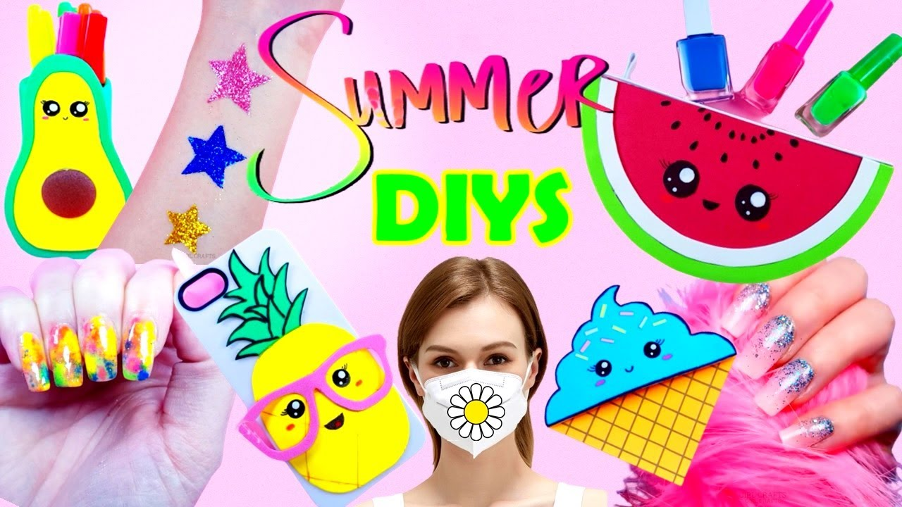 8 DIY's : SUMMER TIME HACKS AND CRAFTS - Tattoo, Nails, Phone Case and more...