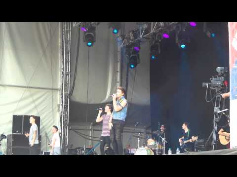 Union J - Tonight (We Live Forever) - Leicester Music Festival 26/07/2014