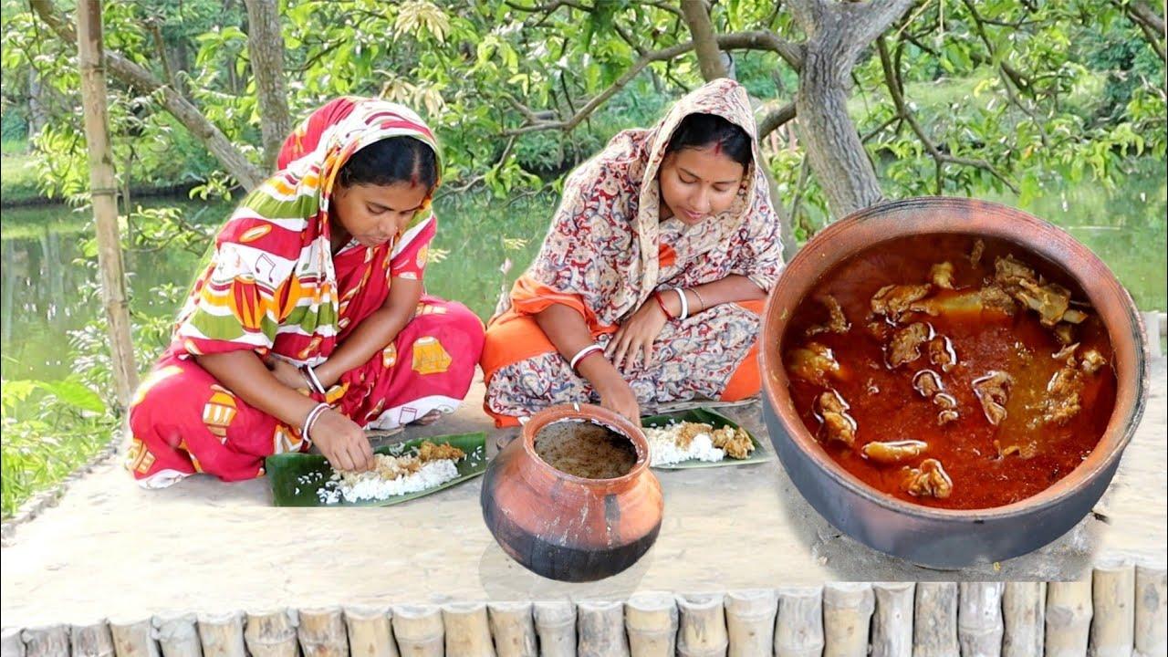 বাঁশকাঠি চালের ভাত আর এইরকম খাসিমাংস রেসিপি কাউকে খাওবেন না তাহলে বারবার রিকোয়েস্ট আসবে| mutton cury