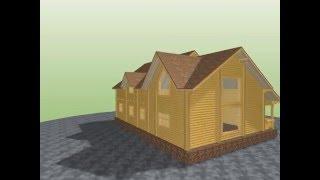 3D проект дома из оцилиндрованного бревна(, 2015-12-14T04:26:46.000Z)