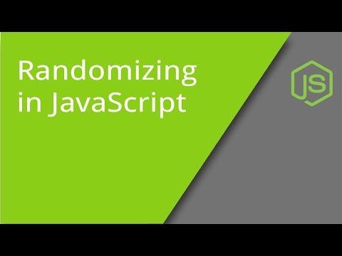 Randomizing In JavaScript