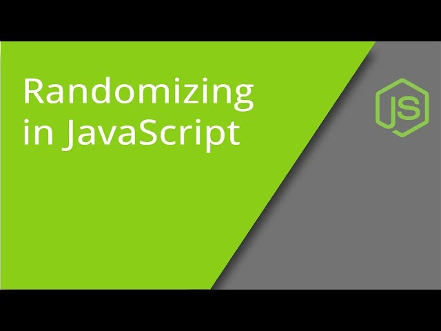 Randomizing in JavaScript