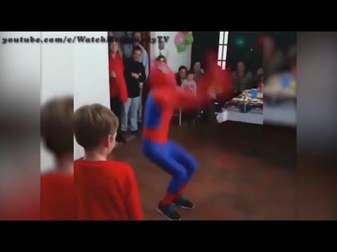 Spiderman Back Flip .. بص يا حبيبى تعالى أعلمك النطة بتاعة سبايدرمان
