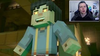 Youtubers react to The ADMIN TURNING INTO JESSE!?!!? Minecraft Story Mode Season 2 Episode 3 Mp3