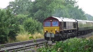 EWS livery Class 66037 Takes On The Torbay Express At Whiteball 29 07 18