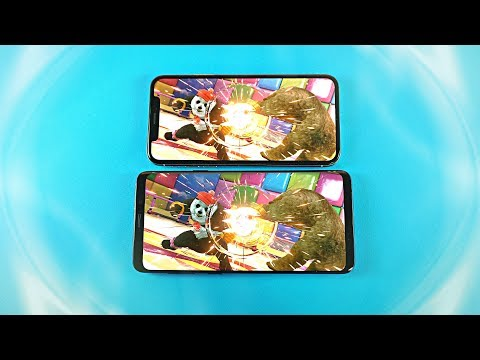 Samsung Galaxy S9 Plus vs iPhone X - Gaming Comparison!