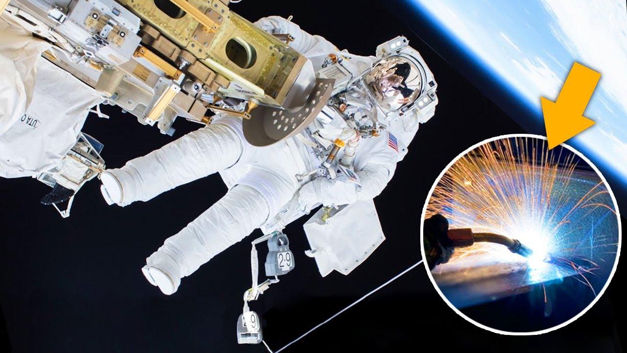 ¿Qué pasa si soldamos en el espacio?