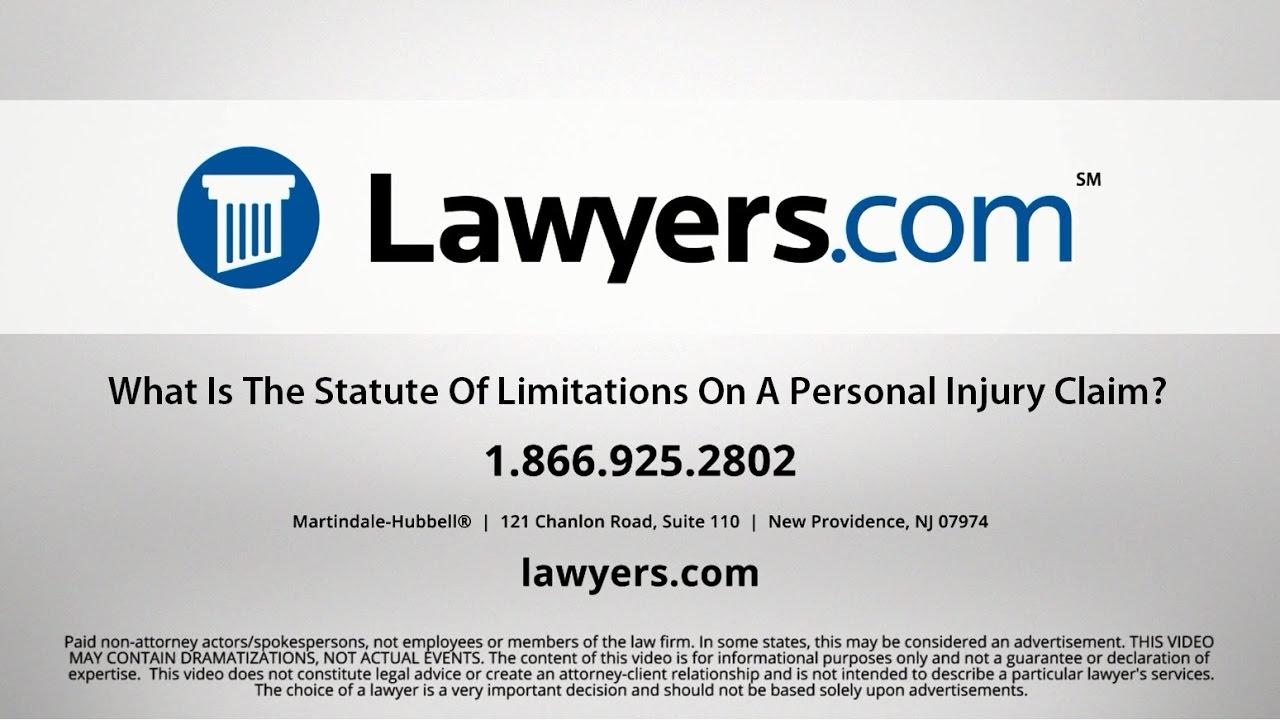 Personal Injury Claim Filing Deadline - Lawyers com