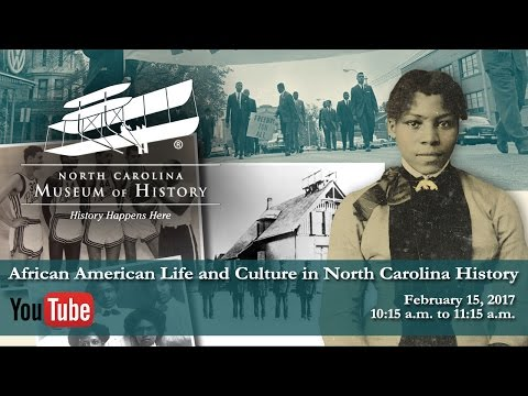Live Streaming Event--African American Life and Culture in NC History