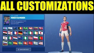 "New Item Shop ALL New ""Soccer Skin"" Customization Options! Should You Buy? Fortnite SKin Showcase"