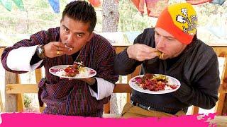 Crazy SPICY BHUTANESE FOOD+ Buddhist Monastery Hike  Thimphu, Bhutan