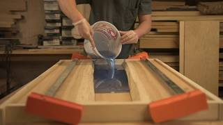 Hickory epoxy river coffee table-Woodworking how to