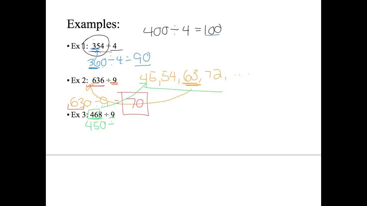 Estimating Quotients of Whole Numbers - YouTube