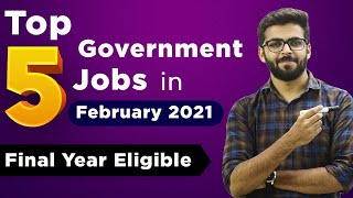 TOP 5 Government Jobs 2021 | February 2021 | Salary ₹60,000 | Government Jobs 2021 screenshot 1