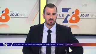 Yvelines | 7/8 Le Journal (extrait) – Plusieurs classes fermées en raison de cas de COVID19