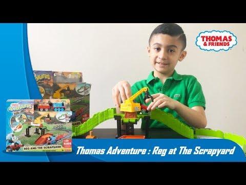 Kereta Thomas & Friends: Unboxing Thomas & Friends Adventure Reg at The Scrapeyard