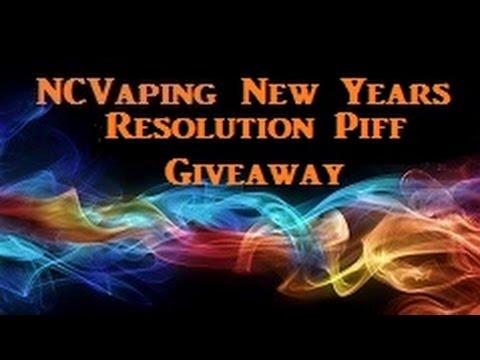 NCVaping New Years Resolution Stop Smoking PIF Giveaway