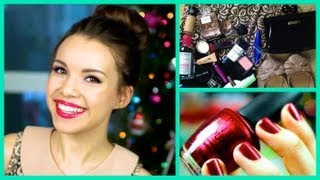Get Ready With Me! ❄ Holiday Party Makeup, Hair, and Outfit