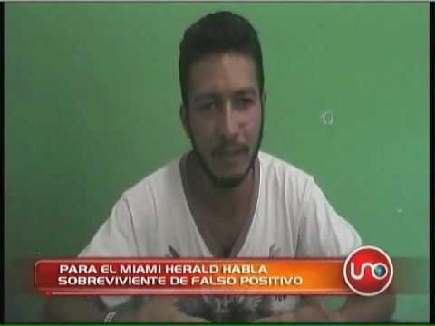 Sobreviviente de falso positivo habló para el Miami Herald.