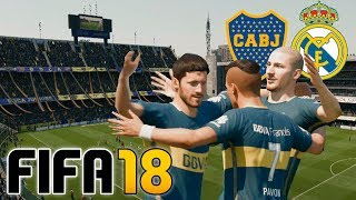 Boca vs Real Madrid - FIFA 18 Demo Gameplay La Bombonera