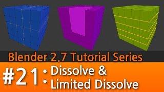 Blender 2.7 Tutorial #21 : Dissolve & Limited Dissolve #b3d