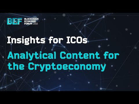 Analytical Content for the Cryptoeconomy