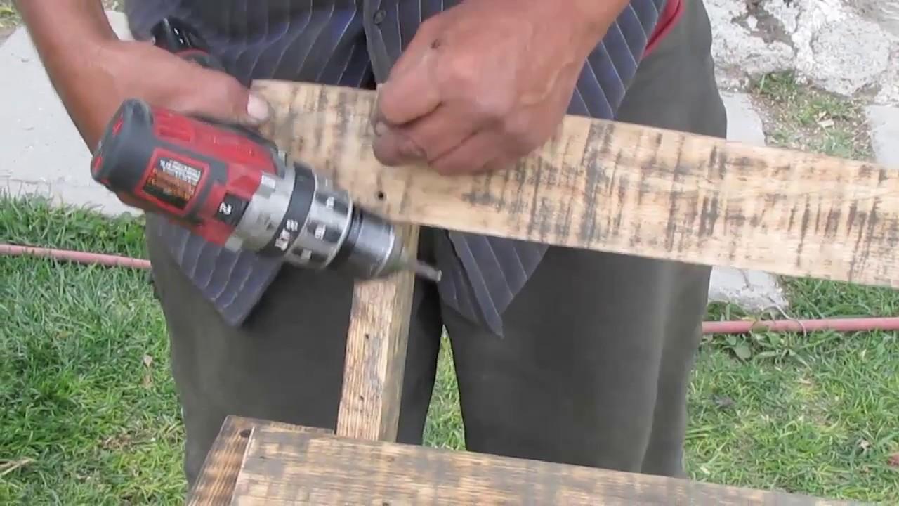 Como hacer una silla rustica con poca madera y herramienta for Como hacer una alberca rustica