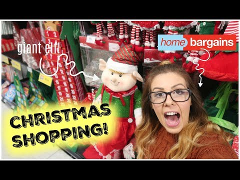 SHOP WITH ME | CHRISTMAS SHOPPING IN HOME BARGAINS | VLOGTOBER 2017 | KERRY CONWAY
